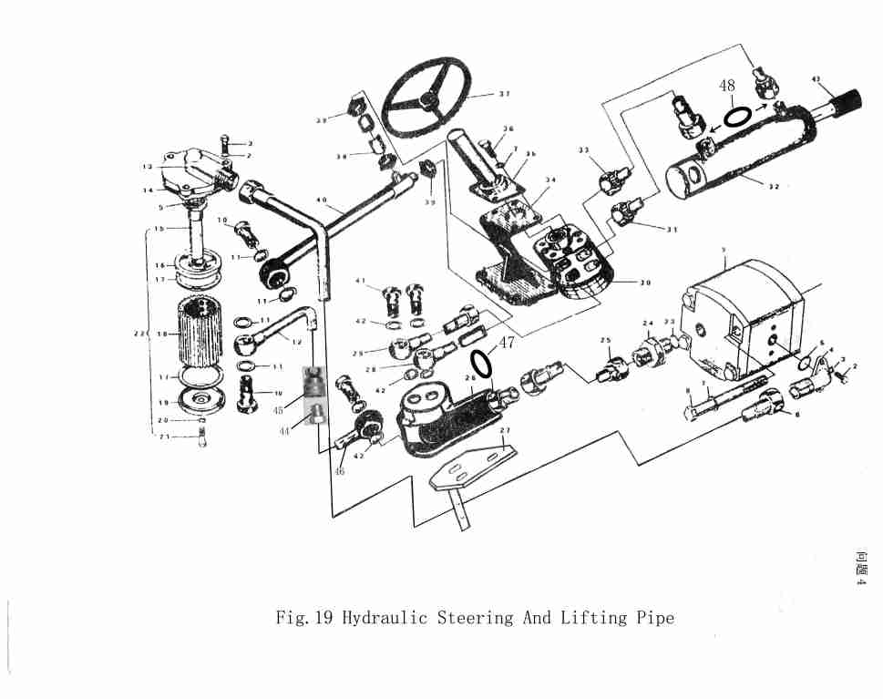 farmall m steering diagram