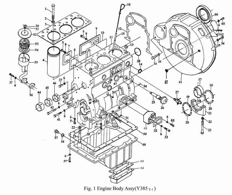 Tractor Engine Schematic
